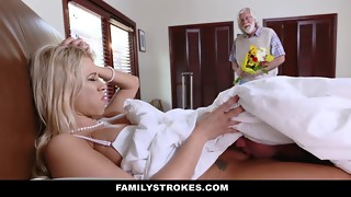 Great morning sex action with a miniature blonde